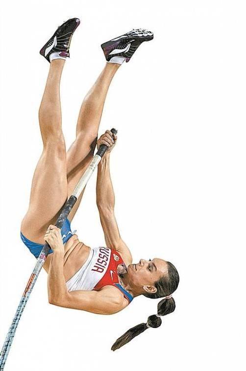 Jelena Isinbajewa setzt zum letzten Höhenflug an. Foto: ap