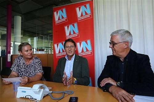 Josef Bucher zu Gast in der VN-Redaktion. Fotos: VN/Hartinger