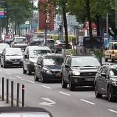 Verkehr durch Bregenz fließt im Normalfall problemlos