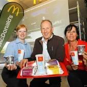 McDonalds-Neubau im Plan