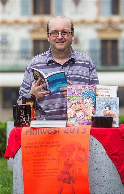 Mangas, Anime und Japan allgemein stehen bei Gebhard Moosmann hoch im Kurs. Foto: VN/Steurer