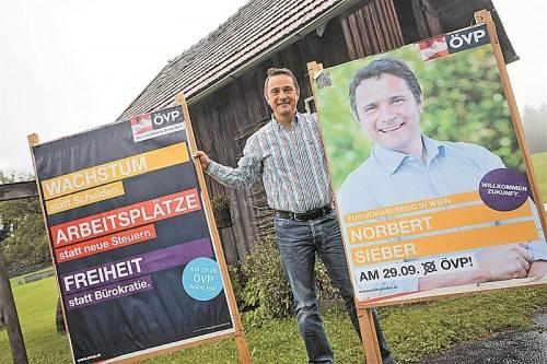 Norbert Sieber war für die ÖVP schon einmal im Nationalrat und will über den Wahlkreis Nord den Wiedereinzug schaffen.