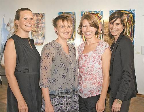 Stefanie Lingg, Eva Scheffknecht, Karin Nussbaumer und Ursula Dünser (v. l.) organisierten die BazArt. Fotos: FRANC
