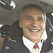 Stoltenberg versuchte sich als Taxifahrer