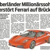 Millionärssohn zerstört Ferrari