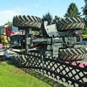 Spektakulärer Unfall in Lustenau