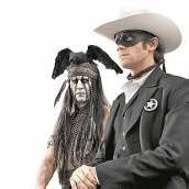 Lone Ranger Johnny Depp als Indianer /C8, D7