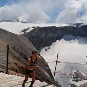 Sabine Reiner beim Glacier-3000-Run Zweite