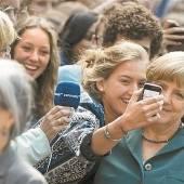 Vertretungslehrerin Merkel an einem Berliner Gymnasium