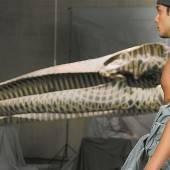 Tattoo-Treff vor dem größten tätowierten Tierskelett im Kunsthaus Bregenz