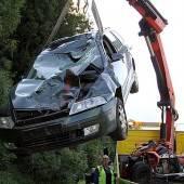 Quad krachte gegen Taxi – Zwei Verletzte