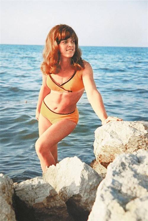 Im Jahr 1966 ist Heinz Lanz dieser Schnappschuss in Rimini geglückt. Seine heutige Ehefrau Traudi war damals bei der Firma Elastisana als Bikinischneiderin in der Musterabteilung tätig.