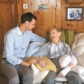 Hoher Besuch zum 105. Geburtstag