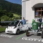 Neue Tankstelle für Elektroauto