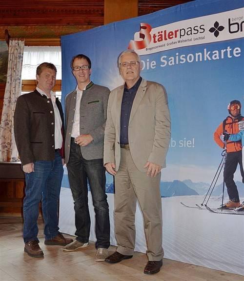 3-Täler-Beiratsobmann Günter Oberhauser, Sonnenkopf-Geschäftsführer Christian Gantner, 3-Täler Pool-Geschäftsführer Wolfgang Beck. Foto: 3T