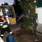 Gasleitung beschädigt – Wohnhäuser evakuiert