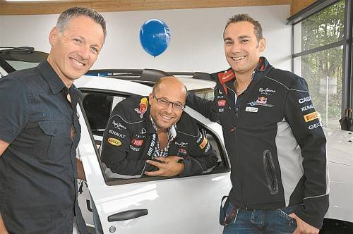 Andreas Bologna, Otto Falkensteiner und Stefan Rhomberg. FOTOS: AFP