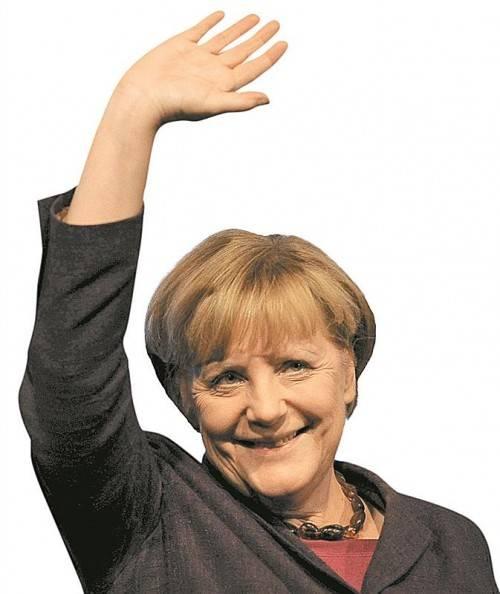 Angela Merkel kann am Sonntag mit rund 38 Prozent der Stimmen rechnen, um ihre Koalition mit der FDP muss sie aber zittern. Foto: EPA
