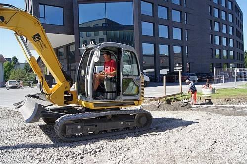 Auch beim Außenbereich laufen bereits die letzten Arbeiten, die bis Ende September abgeschlossen sein sollen. Foto: eh