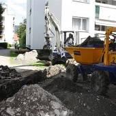 Alberloch: Bauarbeiten am Leitungsnetz