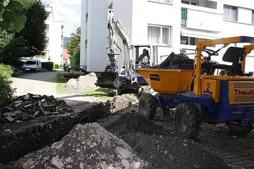 Bau für den Zusammenschluss von Versorgungsleitungen. Foto: bms