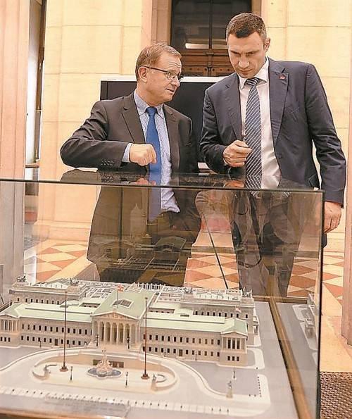 Begrüßte Vitali Klitschko (r.): Kopf. Foto: ÖVP-Klub/Schiffl