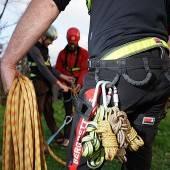 Verletzten Wanderer 300 Meter abgeseilt