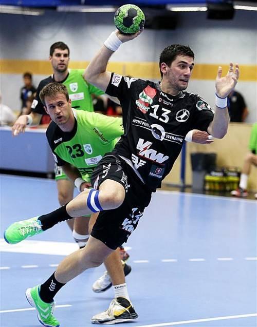 Bregenz-Kreisläufer Filip Gavranovic erzielte fünf Treffer beim 27:24-Sieg im Hinspiel bei West Wien. Foto: gepa