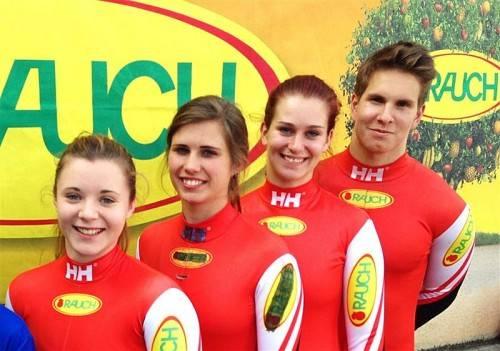 Das Bludenzer Juniorenteam, von links: Sarah Tomaselli, Melina Heinzelmaier, Katrin Heinzelmaier und Thomas Steu. Foto: Verein