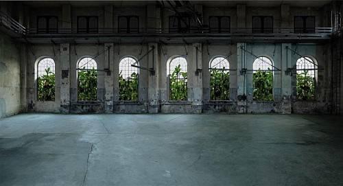 """Das Schweizer Künstlerpaar Gabriela Gerber & Lukas Bardill präsentieren ihre spektakuläre Videoinstallation """"Dornröschen"""" im Kunstraum Dornbirn. foto: kunstraum dornbirn"""