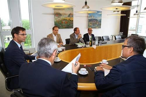 """Das erste Gespräch der Landtagsfraktionen über das Budget 2014 verlief in einer """"vernünftigen Atmosphäre"""". Foto: VN/Hofmeister"""