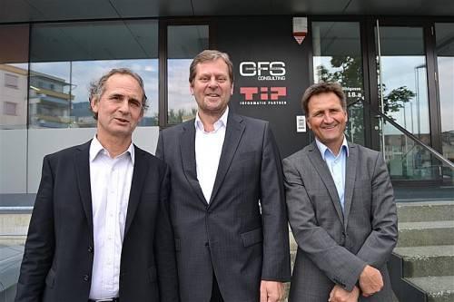 Das neue Führungstrio (v. l.): GF Franz Meusburger mit Michael Mall und GF Armin Steger. Foto: cfs consulting
