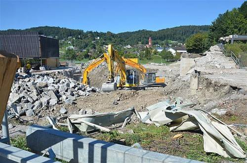 Der Fortschritt der Bauarbeiten ist bereits zu sehen. Foto: Mwe