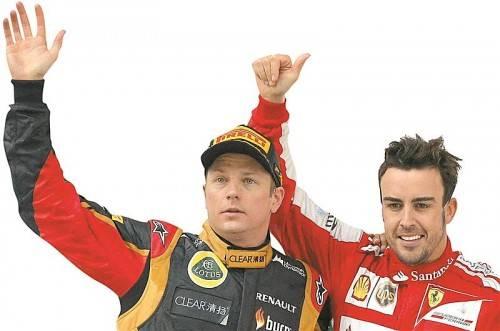 Der Titel muss her: Kimi Räikkönen und Fernando Alonso. Foto: ap