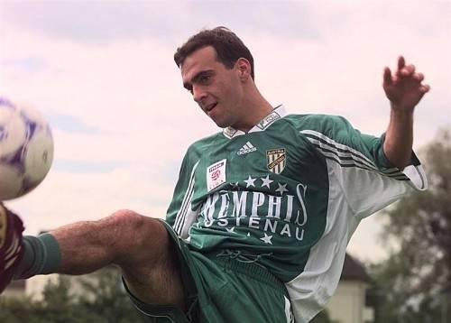 Der junge, wilde Harald Dürr. Bild von 1998, aus dem ersten Bundesligajahr.
