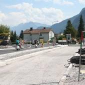 Arbeiten an Kreisverkehr in Nenzing vor Abschluss