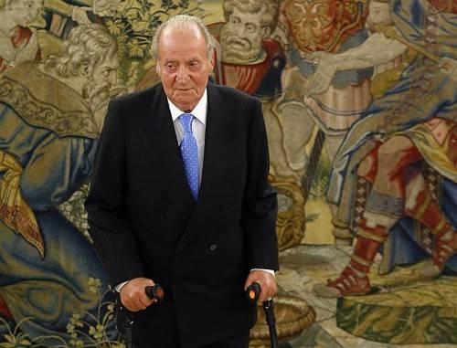 Der spanische König hat eine vorläufige Hüftprothese erhalten. Foto: epa