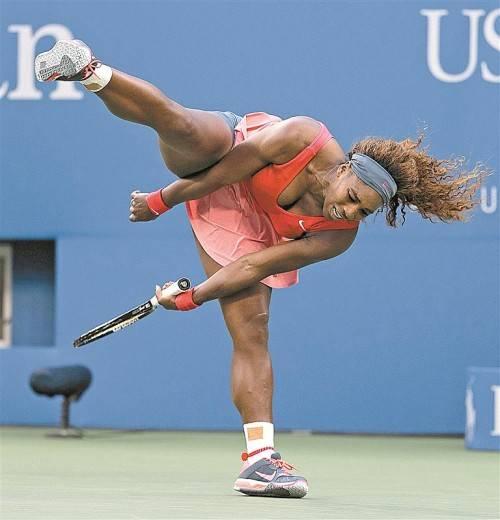 Der zweite Matchball bedeutet den Sieg, Grand-Slam-Titel Nummer 17 ist im Rucksack: Serena Williams hüpft nach ihrem Triumph in New York wie ein Känguru.