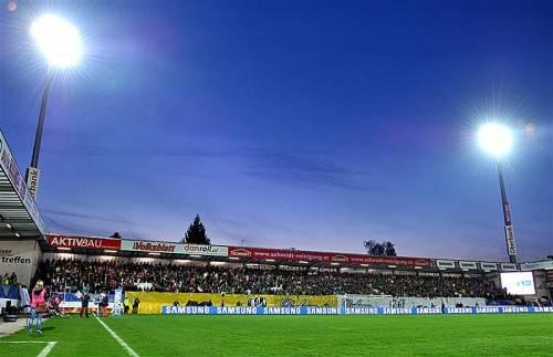 """Die """"Keine Sorgen Arena"""" von Ried könnte Lustenau als Vorlage dienen. Foto: Gepa"""