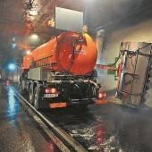 Herbstputz für Vorarlbergs Tunnel