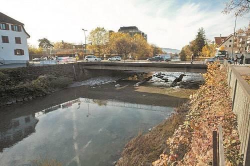 Die Gefahrenstelle Sägerbrücke wird durch eine Absenkung der Flusssohle entschärft. Foto: VN/Steurer
