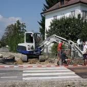 Bauarbeiten im Kurzglend bis Montag fertig