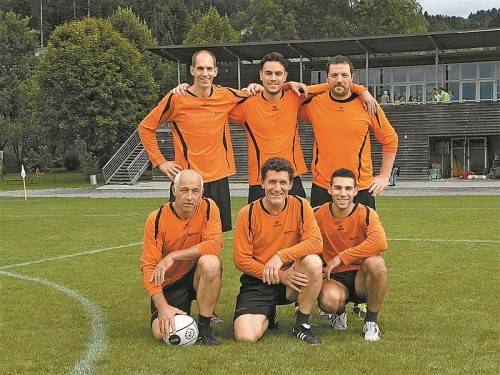Die TS Lauterach holte sich den Faustball-Titel auf dem Feld. Foto: privat