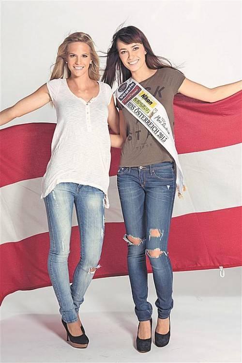 Doris Hofmann und Ena Kadic vertreten Österreich bei internationalen Misswahlen. Foto: Helimayr