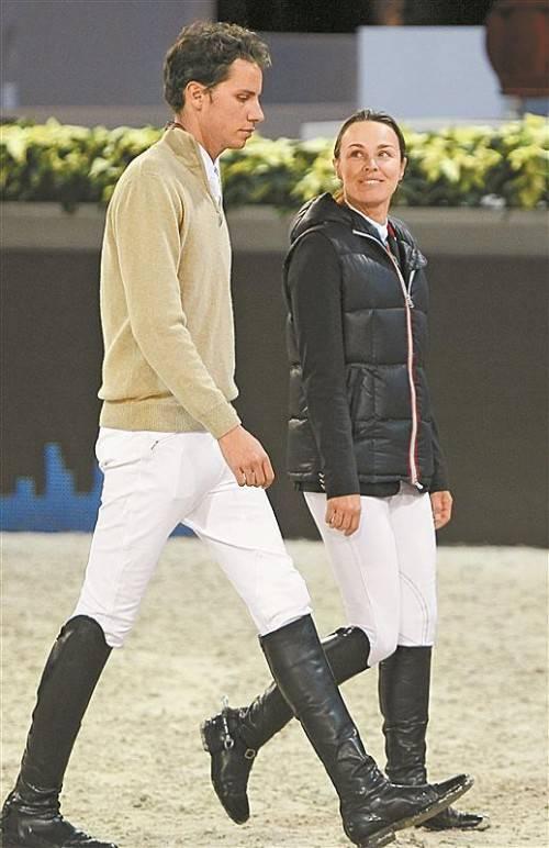 Ein Bild aus besseren Tagen: Martina Hingis und Thibault Hutin. ap