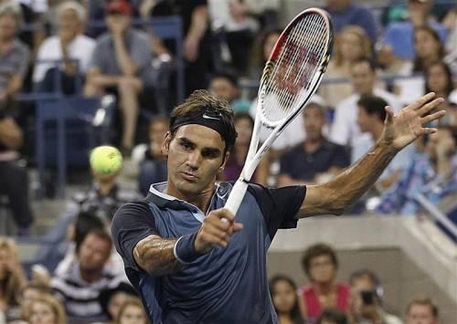 Ein Sieg trennt Roger Federer noch vom möglichen Viertelfinale-Kracher gegen Rafael Nadal. Foto: epa