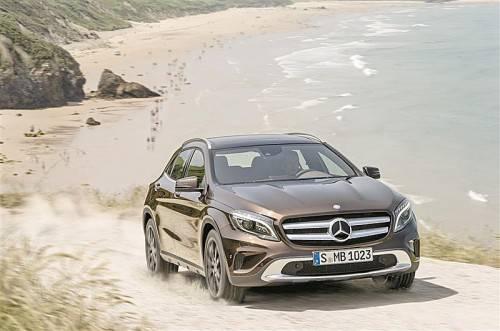 Einer der Stars der Frankfurter Automesse: der neue Mercedes GLA. Fotos: werk