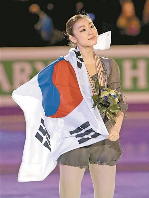 Eiskunstlauf-Liebling Kim Yu-Na hat sich am Fuß verletzt. Foto: ap