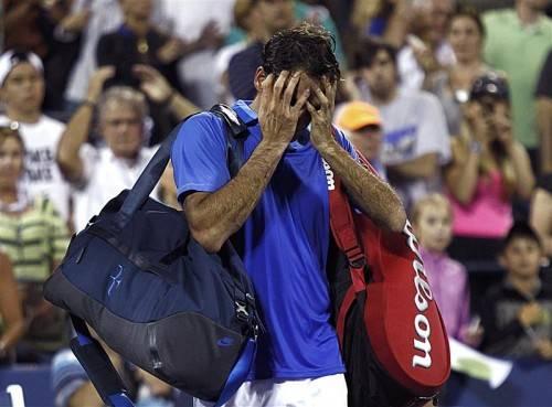 Erstmals seit 2002 schaffte es der 17-malige Major-Champion Roger Federer in dieser Saison bei keinem der vier Grand-Slam-Turniere ins Endspiel. Foto: epa