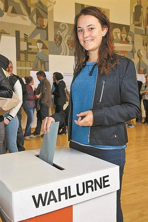 Erstwählerin Leonie Ellensohn hat gestern für die Grünen gestimmt.